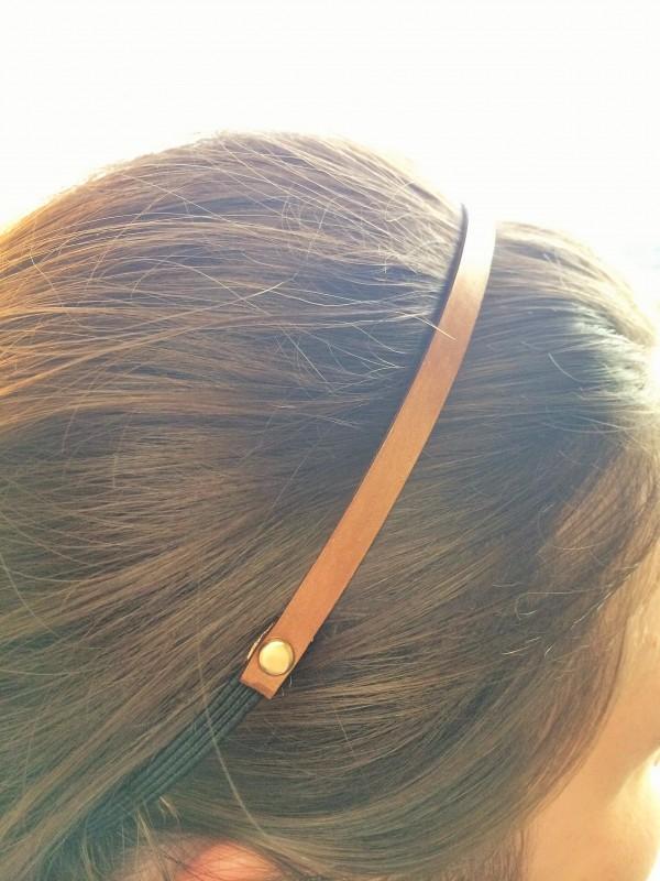 Bronze headband on model
