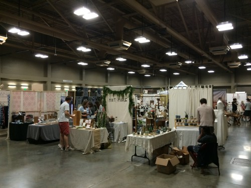 Booths at the Renegade Craft Fair