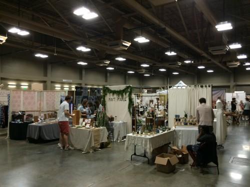 Booths at the Renegade Craft Fair