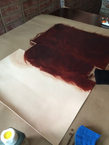 Hand Dyeing Vegetable Tanned Leather